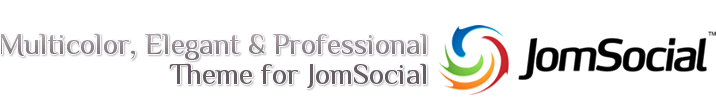 Multicolor, Elegant & Professional Theme for JomSocial